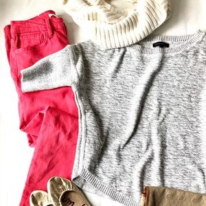 Joes skinny jeans and Banana Republic sweater set